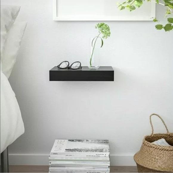 Surprising Ikea Lack Black Floating Wall Shelf Nwt Download Free Architecture Designs Aeocymadebymaigaardcom
